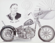 Larry Drawings - Tribute to Indian Larry by Rob Lyons