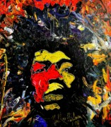 Obama Paintings - tribute to Jimi Hendrix by Neal Barbosa