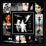 Pop Singer Framed Prints - TRIBUTE to Michael Jackson The King of Style Framed Print by Davandra Cribbie