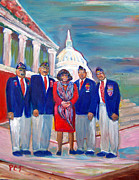 Uniforms Painting Prints - Tribute to Veterans Print by Patricia Taylor