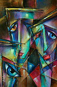Urban Expressions Framed Prints - Trio Framed Print by Michael Lang