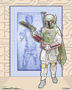Star Wars Mixed Media Prints - Trophy Print by Jerrett Dornbusch