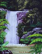 Puerto Rico Originals - Tropical Waterfall by Luis F Rodriguez