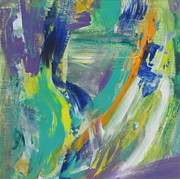 Splashy Painting Originals - Tropicana 1 by Anita Burgermeister