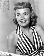 Striped Dress Art - Trouble Along The Way, Donna Reed, 1953 by Everett