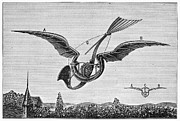 Fanciful Metal Prints - TrouvÉs Ornithopter Metal Print by Granger