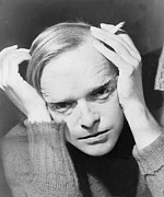 1950s Fashion Metal Prints - Truman Capote 1924-1984, Southern Metal Print by Everett