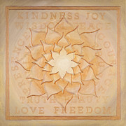 Yoga Painting Prints - Truth Beauty Love Freedom Print by Charlotte Backman