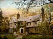 Mansion Digital Art - Tudor Style by Jessica Jenney