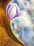 Posters On Mixed Media - Tulip Fantasy by Kathleen Pio