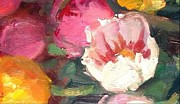 Netherlands Paintings - Tulip Tumble by Susan F Greaves