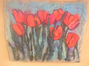 Needle Tapestries - Textiles Originals - Tulips by Selma Glunn