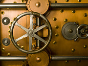 Mercantilism Photo Prints - Tumbler Bank Vault Door Print by Adam Crowley