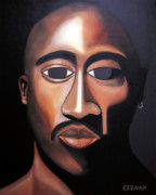 Rapper Paintings - Tupac by Karl Keenan
