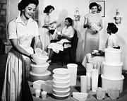 1950s Fashion Prints - TUPPERWARE PARTY, 1950s Print by Granger