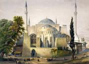 Haghe Framed Prints - Turkey: Hagia Sophia, 1852 Framed Print by Granger