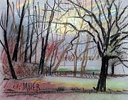Landscapes Drawings Originals - Turner South by Donald Maier