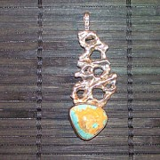 Silver Turquoise Jewelry - Turquoise And Silver Pendant by Chris Calentine
