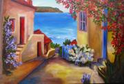 Villa Paintings - Tuscany Village  by Mary Jo  Zorad