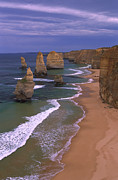 Animalsandearth Photos - Twelve Apostles Limestone Cliffs, Port by Konrad Wothe