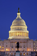 House Of Representatives Photos - Twilight over US Capitol by Brian Jannsen