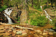 Landscape Prints Prints - Twin Falls Print by Greg Norrell