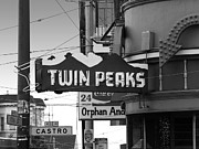 Black And White Photography Acrylic Prints - Twin Peaks Bar in San Francisco Acrylic Print by Wingsdomain Art and Photography