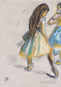 Ballerinas Prints - Two Dancers Print by Laura Seed