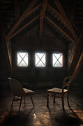 Frame House Photos - Two seats three windows by Nathan Wright