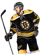 Hockey Playoffs Posters - Tyler Seguin Poster by Dave Olsen
