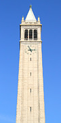 Long Sizes Posters - UC Berkeley . Sather Tower . The Campanile . Clock Tower . 7D10059 Poster by Wingsdomain Art and Photography