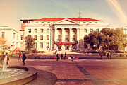 Old Postcards Prints - UC Berkeley . Sproul Hall . Sproul Plaza . Occupy UC Berkeley . 7D9994 Print by Wingsdomain Art and Photography