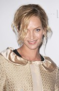 Hair Bun Posters - Uma Thurman In Attendance For Friars Poster by Everett
