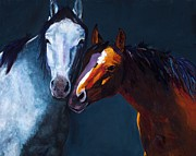 Art Western Painting Prints - Unbridled Love Print by Frances Marino