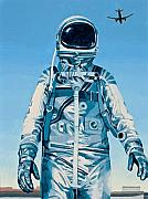 Astronaut Tapestries Textiles - Under the Flight Path by Scott Listfield