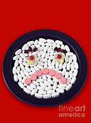 Depressed Posters - Unhappy Pills Poster by Photo Researchers, Inc.