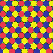 2d Posters - Uniform Tiling Pattern Poster by