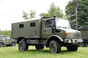 Mercedes Prints - Unimog Truck Of The Belgian Army Print by Luc De Jaeger