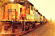 Old Postcards Prints - Union Pacific Locomotive Trains . 7D10588 Print by Wingsdomain Art and Photography