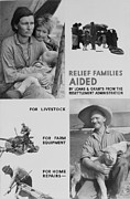 Franklin Farm Photo Posters - United States Resettlement Poster by Everett