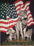 Mixed Media Pyrography Pyrography - United We Stand by Timothy Wilkerson