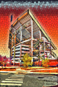 College Football Digital Art Posters - University of Maryland - Byrd Stadium Poster by Stephen Younts