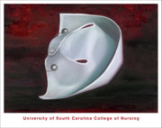 Game Painting Prints - University of South Carolina College of Nursing Print by Marlyn Boyd