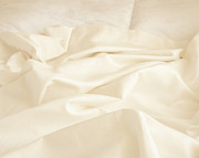Linens Prints - Unmade Bed Print by Shannon Fagan
