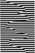 Op Art Drawings Posters - Untitled 17 Poster by Joanna Potratz