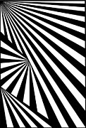 Op Art Drawings Posters - Untitled 7 Poster by Joanna Potratz