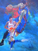 Basketball Paintings - Untitled by Carlos Ostos