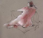 Nudes Drawings Originals - Untitled by Paul Miller