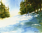 Cross-country Skiing Paintings - Uphill by William Beaupre