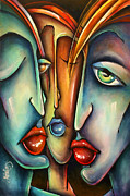 Figures Painting Prints - Urban Expression Print by Michael Lang